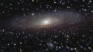 The unusual perspective in this photo of the Andromeda galaxy nabbed accolades for French astrophotographer Nicolas Lefaudeux.
