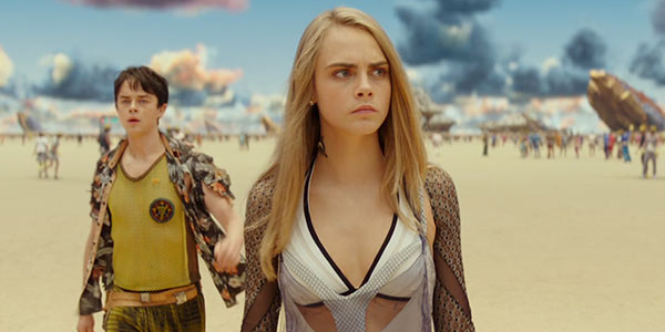 Valerian and the city of a thousand planets Cara Delevinge Dane DeHaan