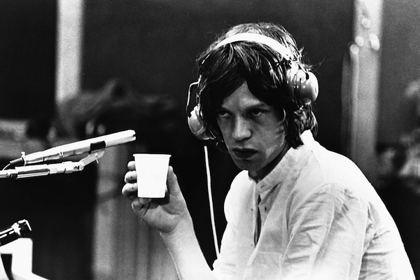 mick jagger in recording studio