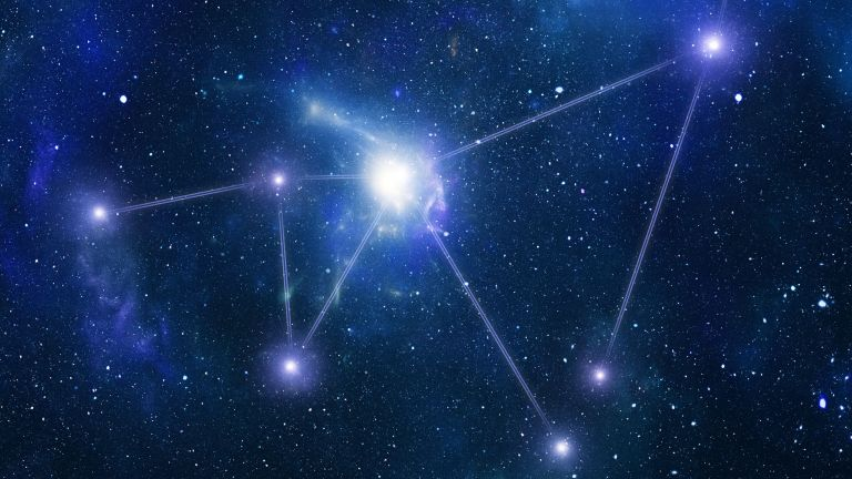 constellation in the night sky