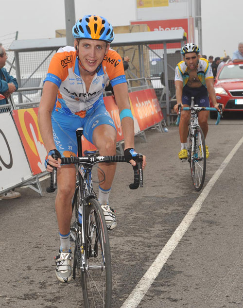 Daniel Martin at finish, Vuelta a Espana 2009, stage eight