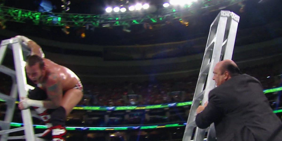 CM Punk and Paul Heyman at Money in the Bank 2013