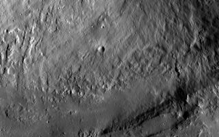 Wall and Terrace at Marcia Crater