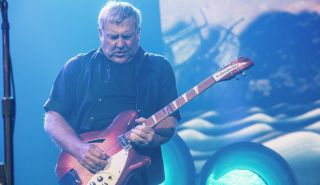 Alex Lifeson performs with Rush at the KeyArena on July 19, 2015 in Seattle, Washington