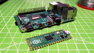 Raspberry Pi Pico and Raspberry Pi 4