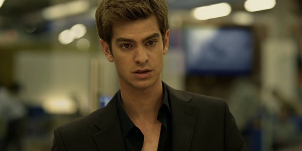 Andrew Garfield as Eduardo Saverin in the Social Network