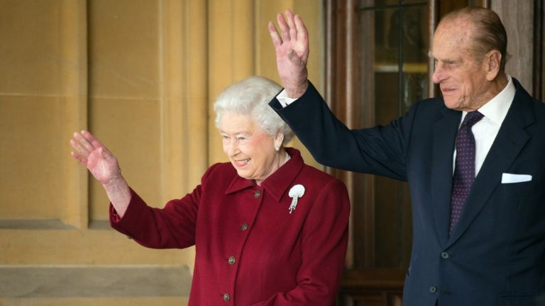 Prince Philip and the queen at windsor castle