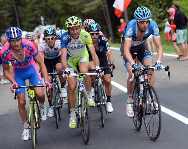 Ryder Hesjedal and Michele Scarponi, Giro d'Italia 2012, stage 19
