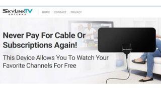 Skylink TV antenna ad