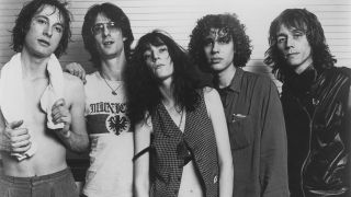 The Patti Smith Group with Ivan Král, far right