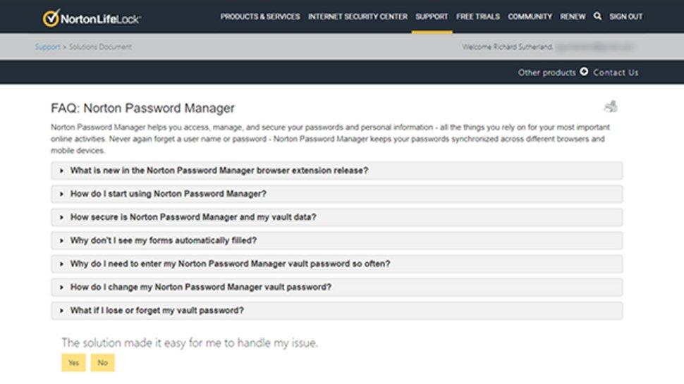 Norton Password Manager 7