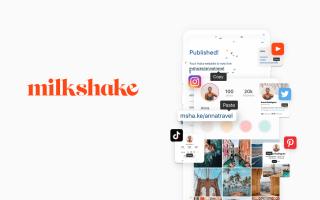 Milkshake website builder's homepage