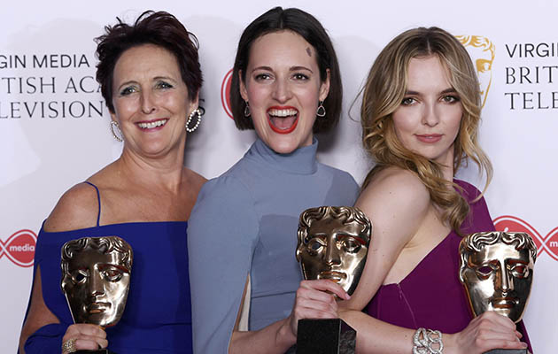 Gongs galore! (L-R) Fiona Shaw, Phoebe Waller-Bridge and Jodie Comer