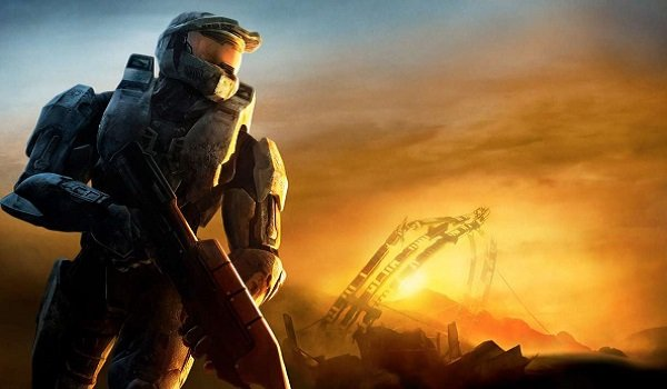 Master Chief looks out over the horizon in Halo 3