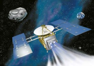 Japan's Hayabusa spacecraft is propelled by an ion-engine. The spacecraft was designed to meet with the Itokawa asteroid, collect samples and return to Earth.