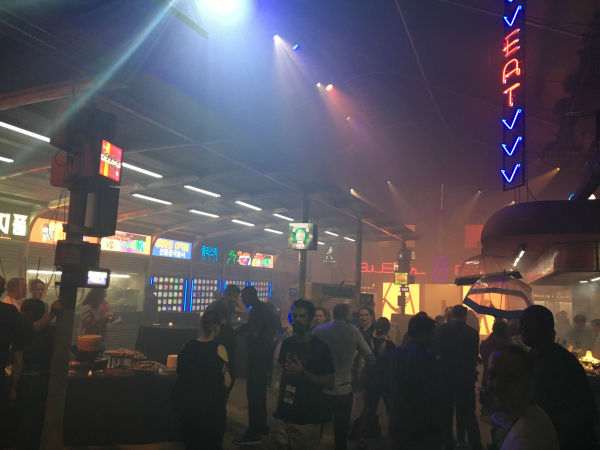 Downtown L.A. in the Blade Runner exhibit