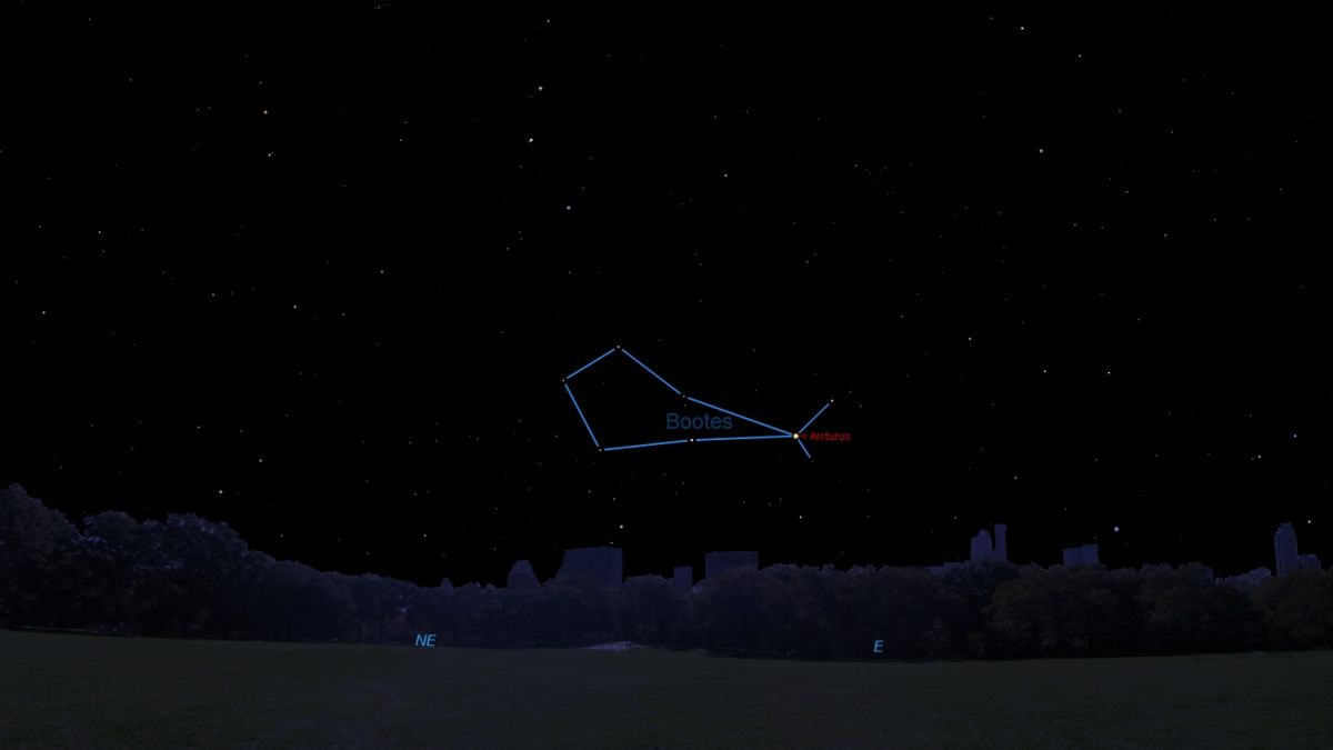 Look In The April Night Sky Is It A Herdsman Bear Driver Or Ice Cream Cone Space