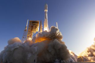 A United Launch Alliance Atlas V rocket launches NASA's Mars 2020 rover Perseverance toward the Red Planet on July 30, 2020.