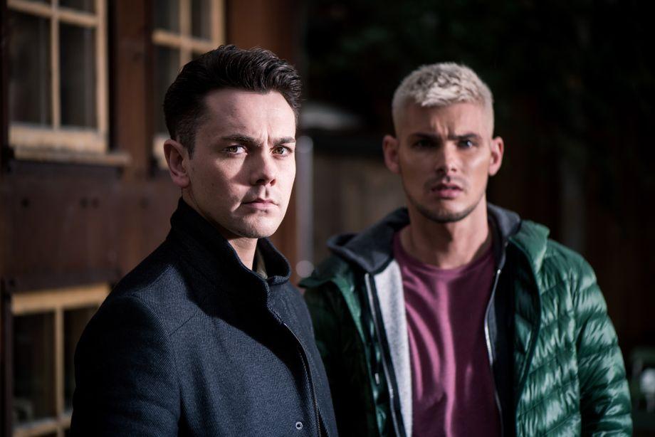 Ste Hay with Jonny in Hollyoaks