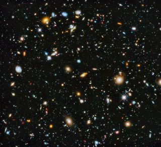 Hubble Space Telescope eXtreme Deep field view