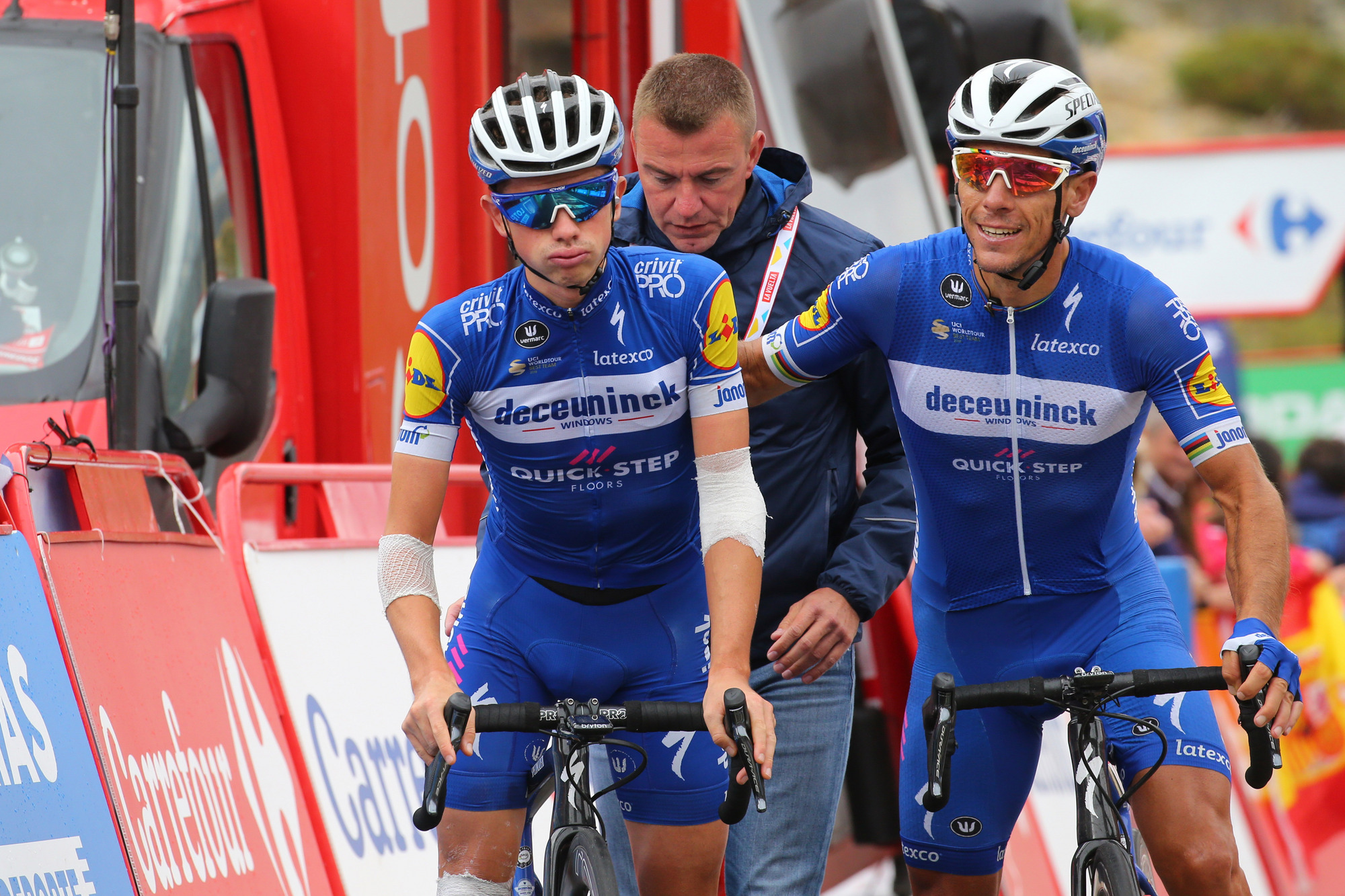James Knox and Philippe Gilbert after stage 20