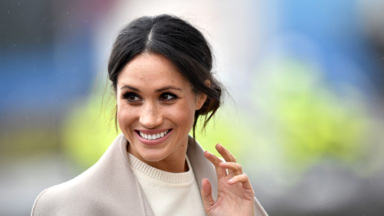 BELFAST, UNITED KINGDOM - MARCH 23: Meghan Markle is seen ahead of her visit with Prince Harry to the iconic Titanic Belfast during their trip to Northern Ireland on March 23, 2018 in Belfast, Northern Ireland, United Kingdom.