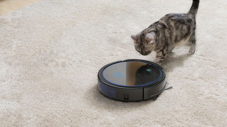 Eufy Robovac 11c Pet Edition with a cat