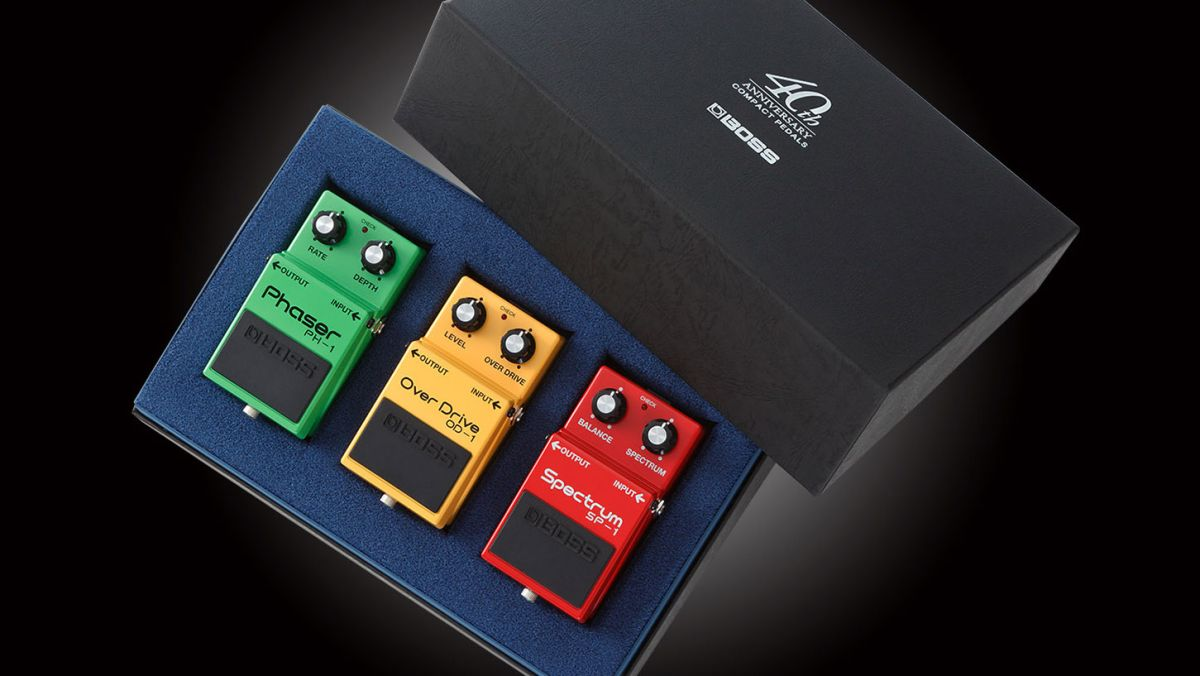 boss reissues od 1 overdrive ph 1 phaser and sp 1 spectrum pedals for 40th anniversary musicradar. Black Bedroom Furniture Sets. Home Design Ideas