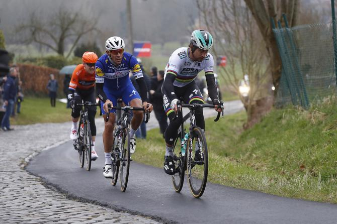 Peter Sagan (Bora - Hansgrohe) and Philippe Gilbert (Quick-Step Floors)