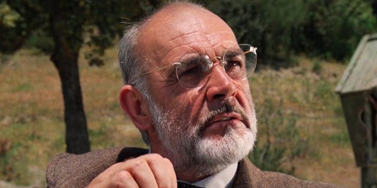 Sean Connery as Prof. Henry Jones, Sr. in Indiana Jones and the Last Crusade