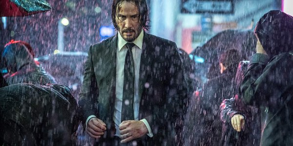 John Wick: Chapter 3 - Parabellum John walks through the rain in New York.