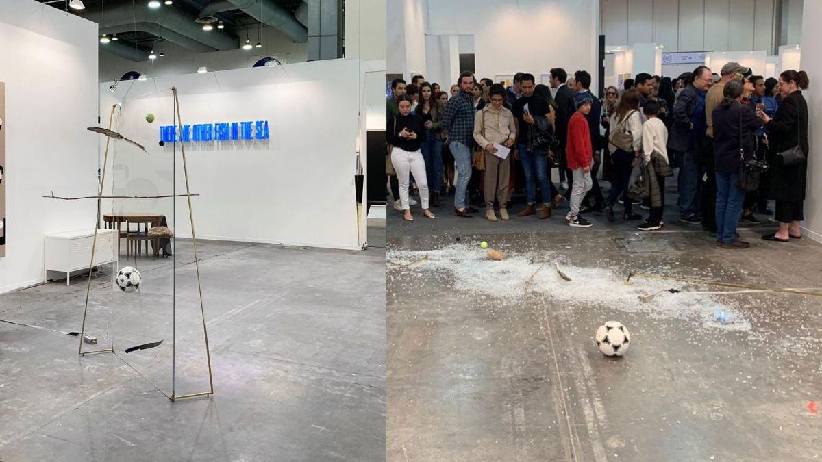 Art critic destroys $20,000 sculpture with a Coke can