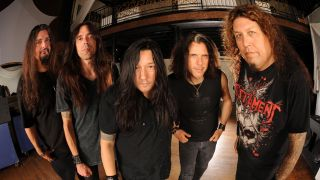 A picture of Testament with Greg Christian