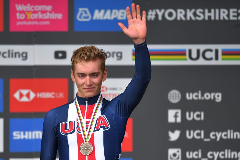 Magnus Sheffield at the Road World Championships 2019 in Harrogate, Yorkshire