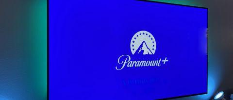 Paramount Plus logo on a TV