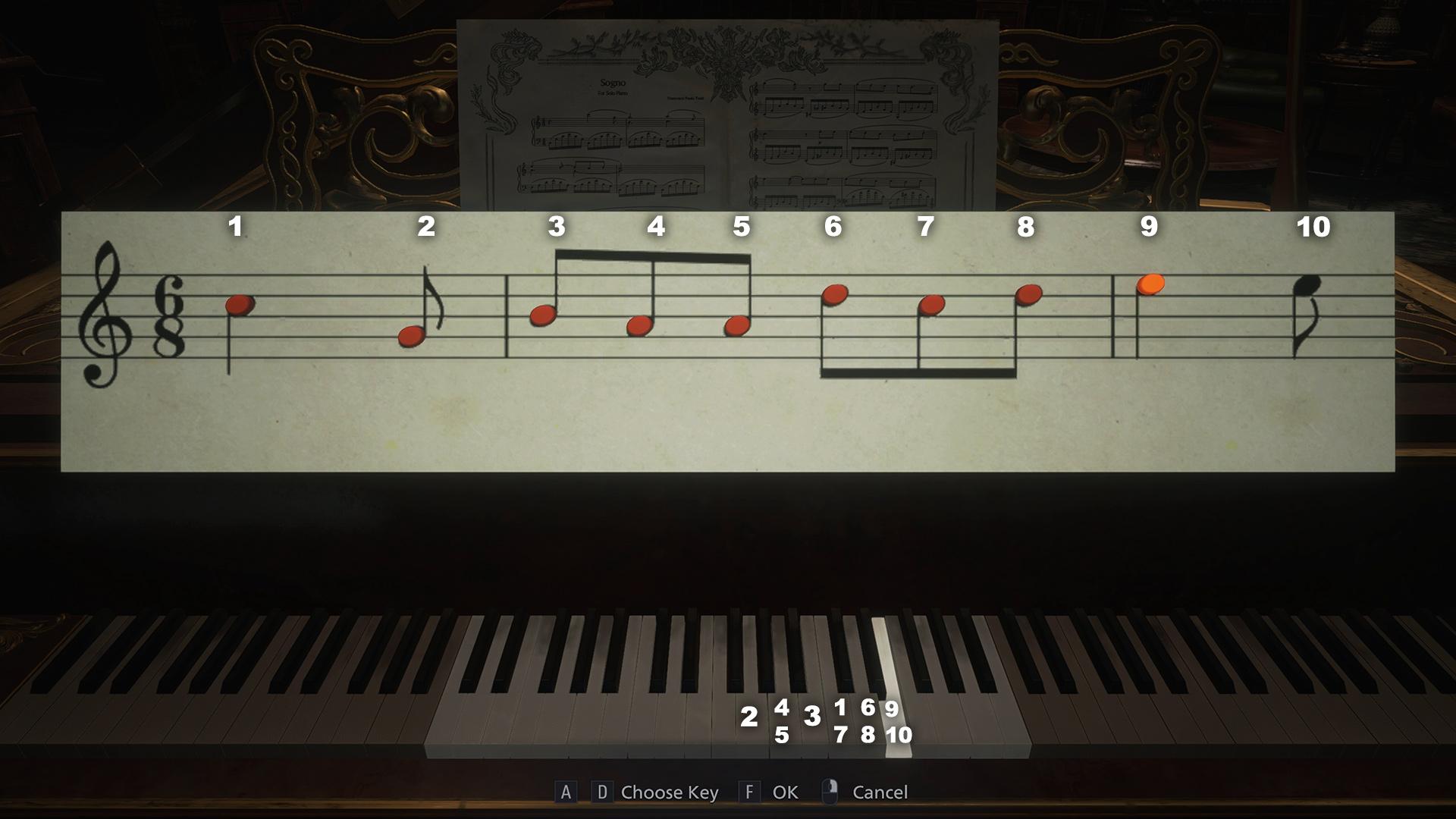 Resident Evil Village piano puzzle