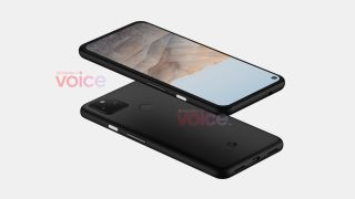 Google Pixel 5a front and back above and below