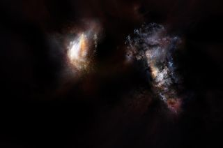 Early Universe galaxy pairs