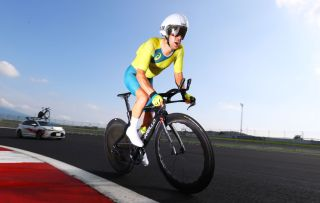 OYAMA JAPAN JULY 28 Richie Porte of Team Australia rides during the Mens Individual time trial on day five of the Tokyo 2020 Olympic Games at Fuji International Speedway on July 28 2021 in Oyama Shizuoka Japan Photo by Tim de WaeleGetty Images