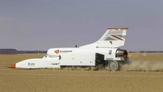 The Bloodhound set a top speed of 501 mph in tests in South Africa.