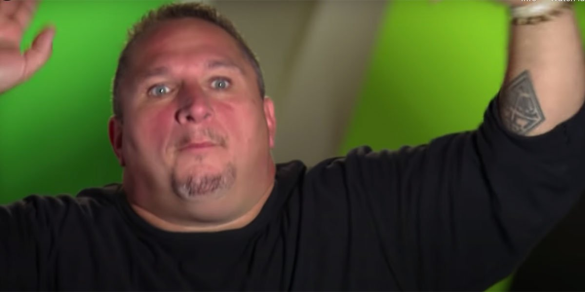 Henry Laun telling a story and talking with his hands during an episode of Wahlburgers.