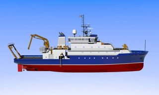 The new U.S. ocean research vessel, the R/V Sally Ride.