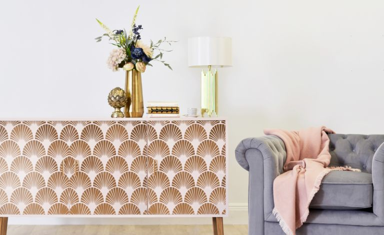 How to stencil: an upcycled sideboard is given a new look