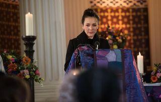 Cleo McQueen at Celine's funeral