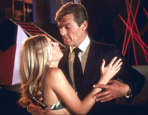 The Man with the Golden Gun - Britt Ekland as Mary Goodnight & Roger Moore as James Bond