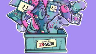 PC Gamer new products box illustration