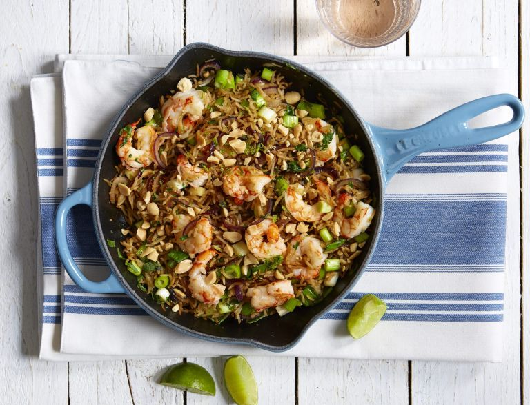 prawn rice stir fry
