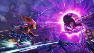 Ratchet and Clank: Rift Apart rail grind