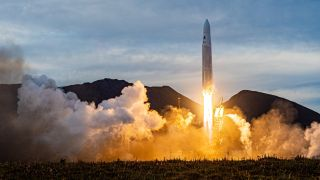Astra's Rocket 3.1 launches from the Pacific Spaceport Complex in Alaska on Sept. 11, 2020.