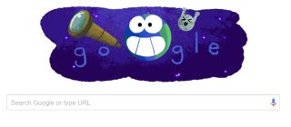 Google celebrated the discovery of seven Earth-size exoplanets around the star TRAPPIST-1 with an adorable Google Doodle on Feb. 22-23, 2017